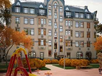 Общий вид клубного дома на Костромском проспекте